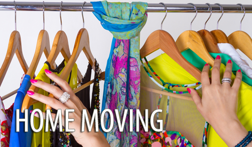 moving hanging closet clothes